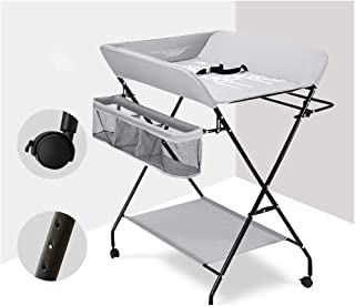 Diaper Table Baby Care Table Baby Oxford Cloth Steel Pipe Portable Changing Pad With Wheels Adjustable Portable Travel Kit - Baby Baby Changing Station Foldable (Color : B)