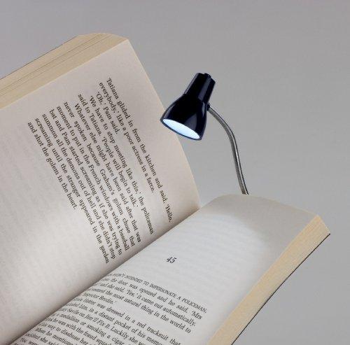Little Lamp - LED Booklight Leselampe - Blau: Retro-Buchleuchte und Mini-Tischlämpchen - 2