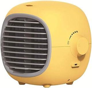 Ventilador, Ventilador De La Torre, De Iones Negativos Del Aire Acondicionado Ventilador, Limón Pequeño Ventilador Con Humidificador De Escritorio Ultra Silencioso Aerosol Pequeño Mini Refrigerador De
