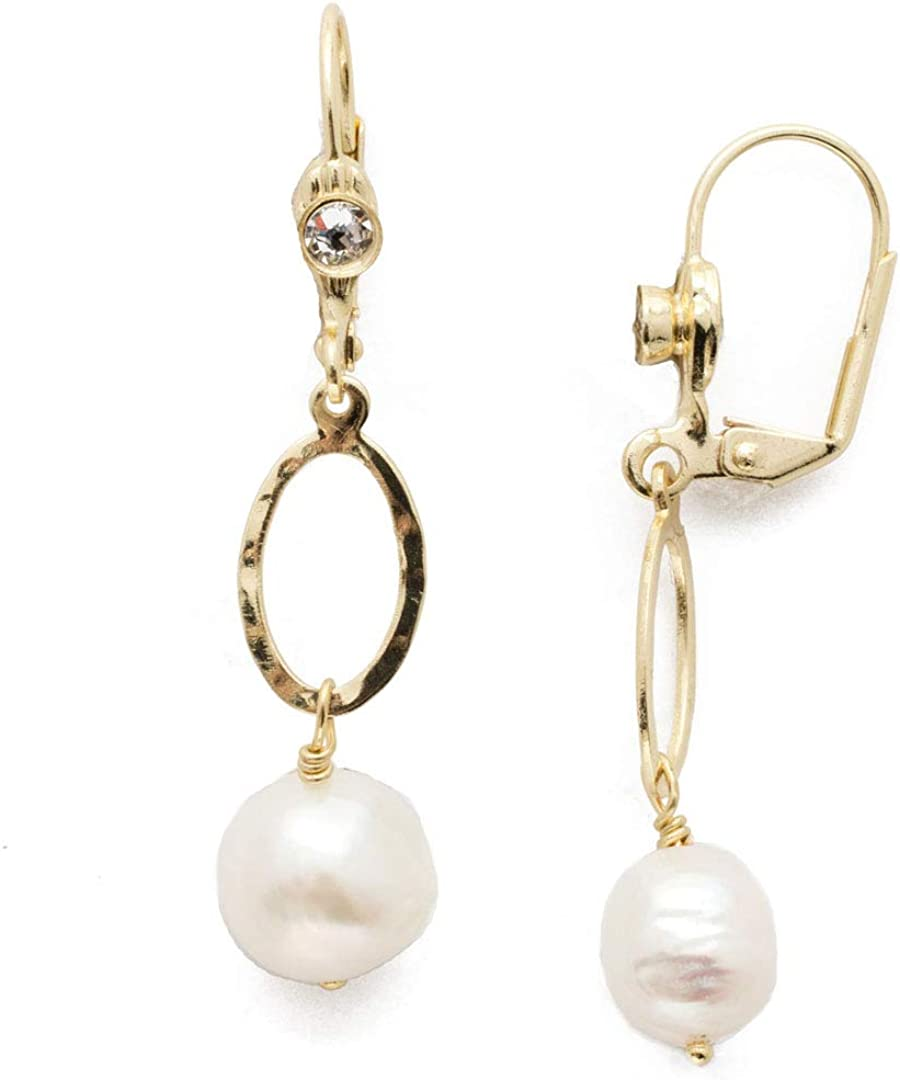 Sorrelli Milana French Wire Earring, Bright Gold-Tone Finish, Crystal, One Size (EEC3BGCRY)