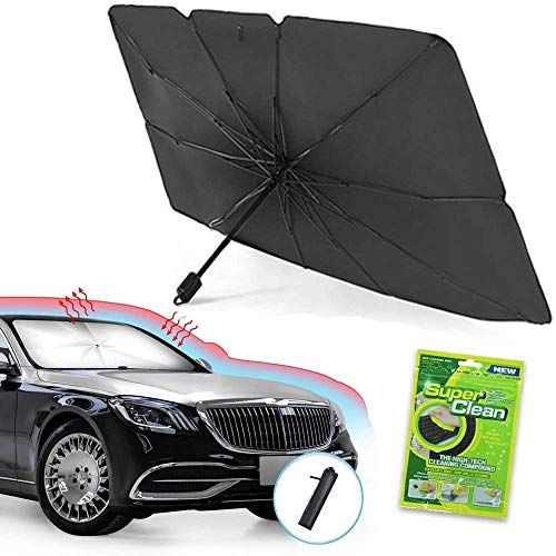 Foldable Car Sunshade Windshield Umbrella, Front Window Sun Shade Screen, Windows Protector Shield Shades, Retractable Sun Blocker Screens, Sunshades Automotive Interior Accessories Men & Women