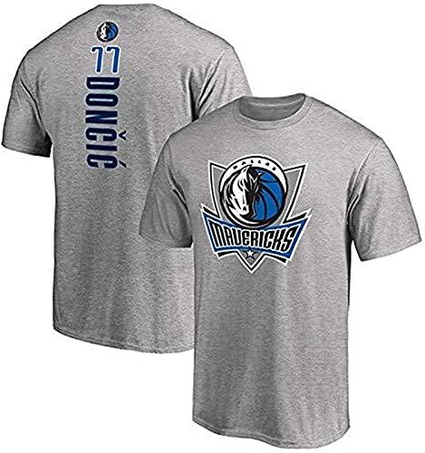 Fans Baloncesto Camiseta De Manga Corta Training Uniform Set Camiseta De Manga Media, Gris - L