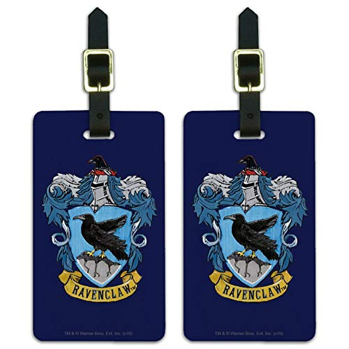 Harry Potter Ravenclaw Painted Crest Luggage ID Tags Carry-On Cards - Set of 2