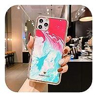 Seggw ファッション水彩画大理石の電話ケースFor iPhone12 Mini 11 Pro XS MAX X XR SE 2020 7 8Plus耐衝撃ソフトカバーcapa-Style 12-For iphone 11 Pro