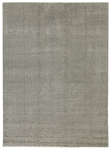 "6'6""X10' Solid Tufted Micropoly Shag Area Rug Gray - Project 62™"