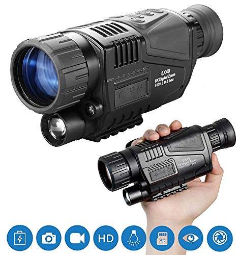 For Sale! HGERFXC Night Vision Monocular, 5X40 Night Vision Infrared IR Camera HD Digital Night Visi...