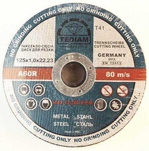 50 discos de corte de acero inoxidable para acero, metal, acero inoxidable,...
