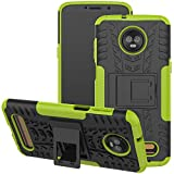 Viodolge Moto Z3 / Moto Z3 Play Case, [Shockproof] Rugged Dual Layer Protective Phone Case Cover with Kickstand for Motorola Moto Z3 / Moto Z3 Play (2018) (Green)
