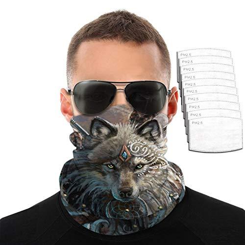 Magic Wolf Dream Catcher Hombres Mujeres Deportes al aire libre Resistente al viento Transpirable Variedad Toalla facial
