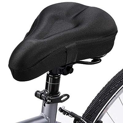 lepeiqi Gelsattelbezug Fahrrad mit Sicherheitsband - Weicher Sattelüberzug für Mountainbike, Rennrad, E-Bike - Mountainbike Zubehör für Herren und Frauen - Fahrrad Sattelbezug bequem