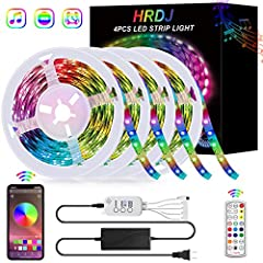 "♛【65.6FT Bluetooth Music Sync LED Strip】Control the LED strip lights via ""HappyLighting"" APP, 24-key remote control and controller. you can freely choose to control 16 million colors. The bluetooth strip light has a smart Music Mode, built-in sensiti..."