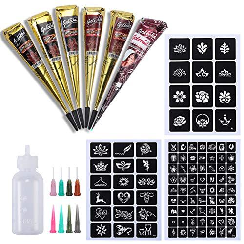 LINONI Kit de pochoirs de tatouage temporaire en forme de cône de crème pour tatouage