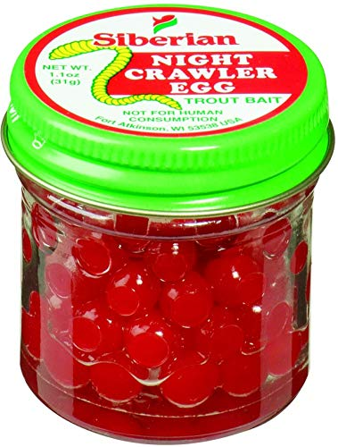 Atlas Mike's Night Crawler Salmon Fishing Bait Eggs, 1.1-Ounce, Red
