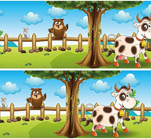 """Selbstklebende Bordüre """"Tiere auf dem Bauernhof"""", 4-teilig 560x15cm, Tapetenbordüre, Wandbordüre, Borte, Wanddeko,Kinder, Bauernhof"""