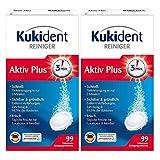 Kukident Aktiv Plus Zahnersatz-Reinigungstabletten Gebissreinigung 2 x 99 Stück