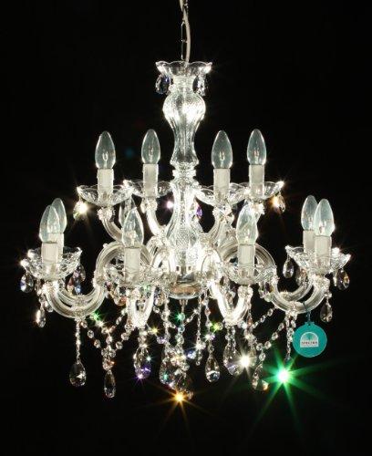 12 braccio lampadario realizzato con Spectra Crystal di SWAROVSKI colore argento
