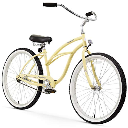 Firmstrong Urban Lady Single Speed - Women's 26' Beach Cruiser Bike (Vanilla)