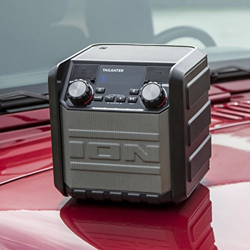 ION Audio Tailgater Go – Portable Waterproof (IPX4) Wireless Bluetooth Speaker with Built-In AM/FM Radio, Rechargeable…
