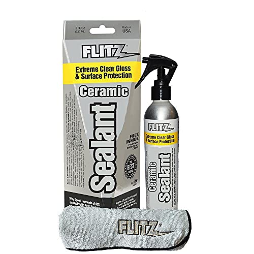 Flitz Ceramic Spray Sealant and Paint Protectant: Shine, Protect + Seal Clear Coat, Plastic,1 Application Lasts up to 12 Months, Made in USA