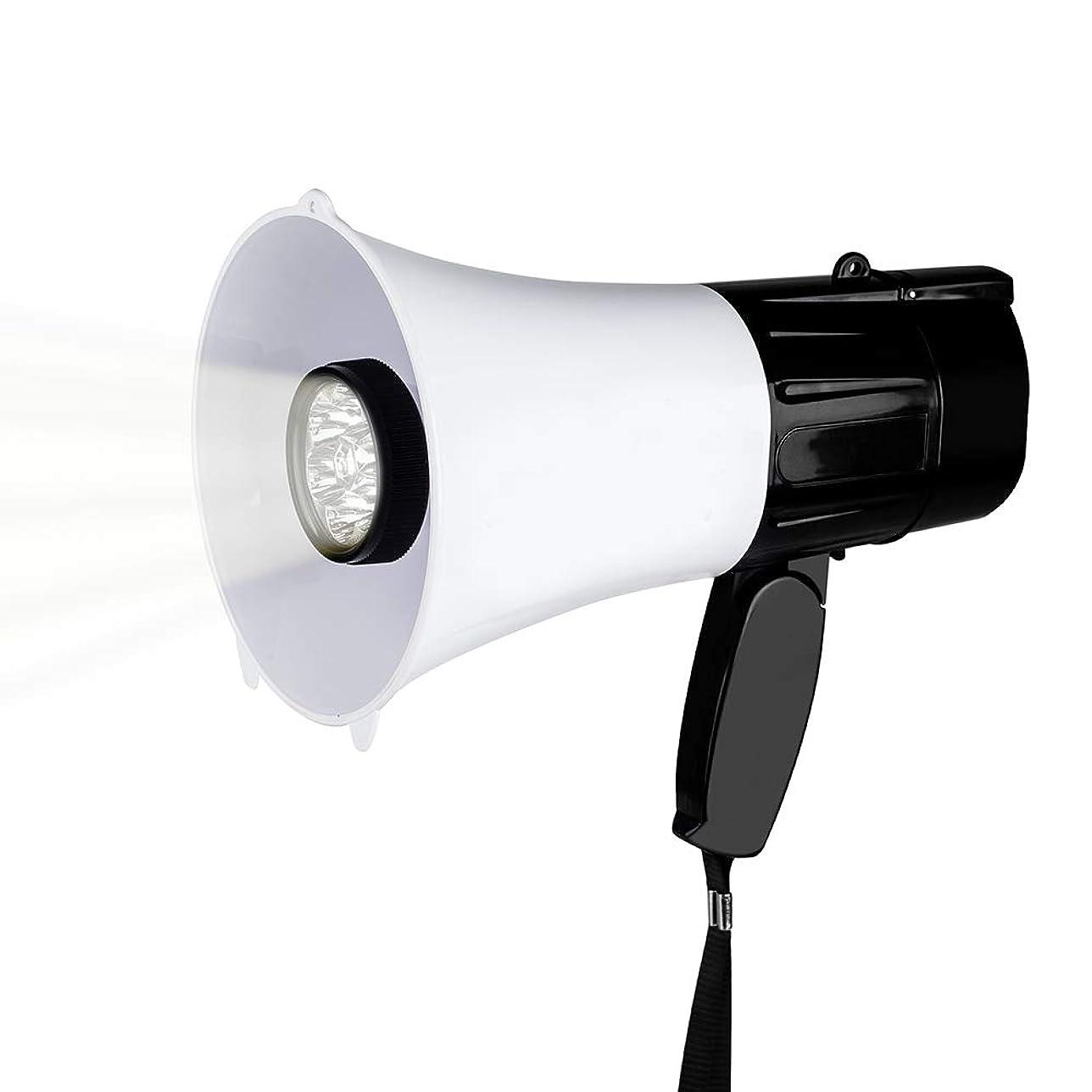 モンゴメリーノイズ囚人夜間で使用しやすいLEDライト付き拡声器