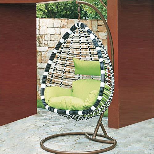 Hamaca de Silla del Huevo 190 * 95cm Que Lleva 150kg para Parque Interior del Patio del Jardín con Almohada-Si