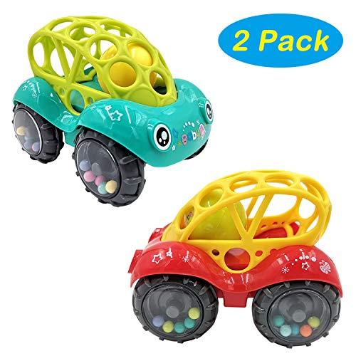 HUANDATONG Baby Boy Spielzeug für 1-5 Jahre alt, Baby Spielzeug 3-6 Monate Baby Geschenke für 3-12 Monate Spielzeugauto für Mädchen 1-5 Jahre alt