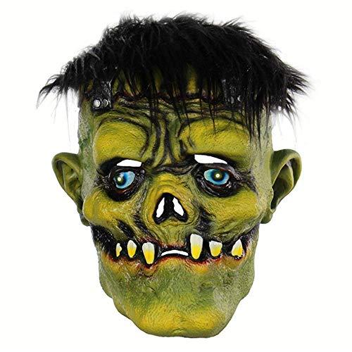 N/D Sombrero De Terror De Monstruo De Cara Verde De Pelo Negro De Halloween, Accesorios Creativos para Fiestas De Bar, Accesorios De Cos para Fiestas De Disfraces.