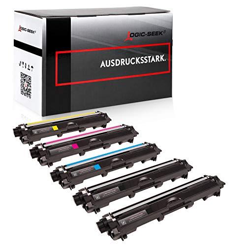 5X Logic-Seek Toner kompatibel für TN241 TN245 Multipack 2X BK 1x CMY für Brother DCP-9015CDW HL-3142CW MFC-9140CDN MFC-9332CDW