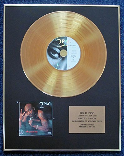 Century Presentations 2Pac - Limited Edition CD 24 Karat Gold beschichtet - All Eyez on Me