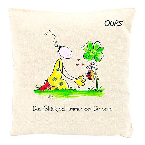 Kräuter Duftkissen Duftkuschler mit einer liebenswerten Botschaft von Oups: Das Glück soll immer bei dir sein, 11x11 cm