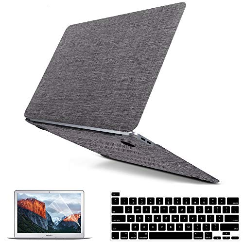 MacBook Pro 13 Inch Case 2020 2021 2019 2018 2017 2016 Release M1 A2338 A2251 A2289 A2159 A1989 A1708 A1706, Fabric Laptop Cover Hard Shell & Keyboard Cover Skin & Screen Protector & Touchpad Cover