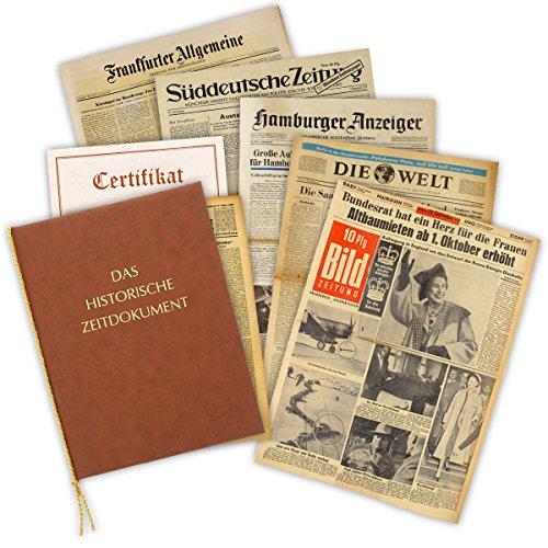 Zeitung vom Tag der Geburt 1951 - historische Zeitung inkl. Mappe & Zertifikat als Geschenkidee