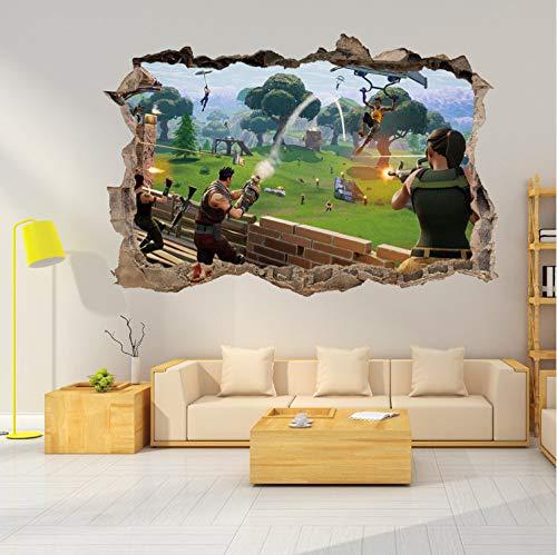 taoyuemaoyi Schlacht Gebrochene Wandaufkleber Für Kinderzimmer Wohnzimmer Dekoration Schlafzimmer Dekor Tapete Aufkleber Fortnight Wandbild 3D