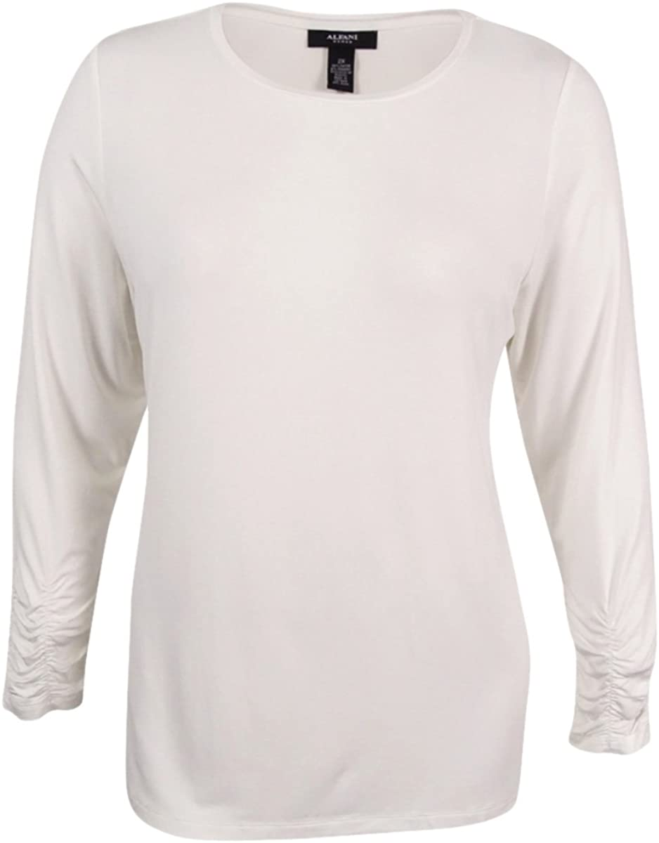 Alfani Women's Plus Size Long-Sleeve Crew-Neck Top