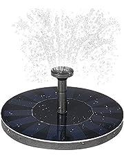 Goolsky Solar-power Fountain Brushless Pump Plants Watering Kit with Monocrystalline Solar Panel for Bird Bath Garden Pond Energy-saving Environmental-friendly Universal