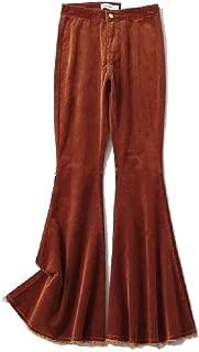 neveraway Womens Slim Fall Winter Corduroy Lounge Palazzo Lounge Pants