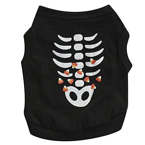jj Store Dog Shirt estate Pet cucciolo del gatto Skull t-shirt Doggy Vest