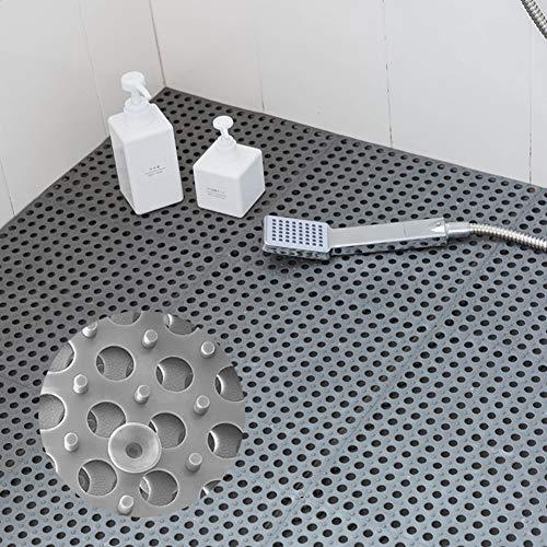 QD-SGMP お風呂マット 滑り止めマット 吸盤つき 浴槽マット すのこ 洗い場マット 浴室用床シート 防カビ 介護用 赤ちゃん お年寄り 転倒防止 新型 4枚(グレー)