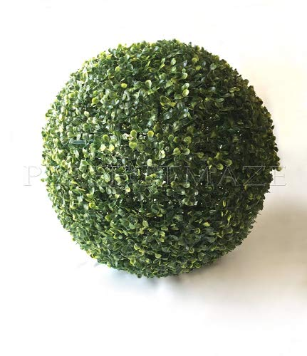"""Perfect Maze Boxwood Ball 19"""" 1PC Perfectmaze Ball-Shaped Artificial Topiary Sphere Pomander Orb Indoor Outdoor Centerpiece for Wedding Home Décor"""