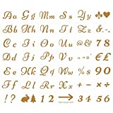 TAZEMAT Stencil da Disegno con Lettere Dell'alfabeto e Numeri Stencil Riutilizzabili in Pl...