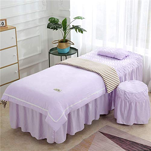Zairmb 4 Pieces Simple Massage table sheet sets Physiotherapy Bedspreads Soft Thickened Beauty Bed cover Stretch fabrics Do not fade-80x190cm(31x75inch) F1