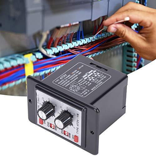 Relé de interruptor de tiempo de control de la perilla, relé de tiempo de temporizador multifunción -10 ~ + 50 ℃ plástico hecho 2VA