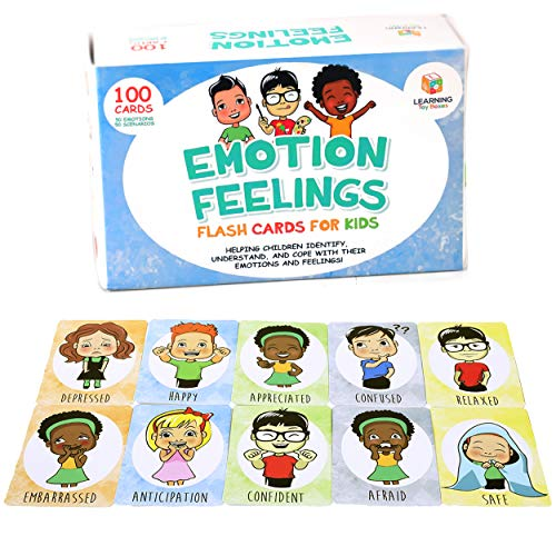 Feelings Flashcards Game Emotion Cards for Learning Emotions with...