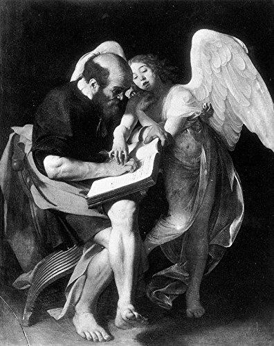 "St Matthew and The Angel by Michelangelo Merisi Da Caravaggio - 20"" x 25"" Premium Canvas Print"