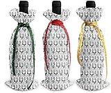 Cool Lama Drama Lot de 3 housses pour bouteille de vin, champagne, sac cadeau de Noël pour décoration de table Taille unique comme sur l'image