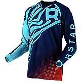 R Star Syncron Jersey Men MX Motocross Jerseys Dirt Bike Downhill Racing Shirt Riding Gear Jersey Blue