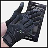 SportyGlove-Top Rated Windproof Breathable Water Resistant Running Gloves for Women and Men. Perfect for All Sports Outdoors & Best Touch Screen Feeling When Texting on Smartphone or Tablets (Medium)