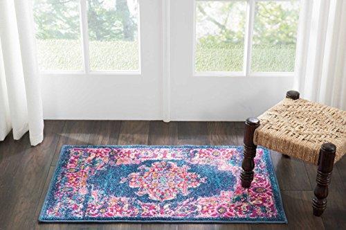 Marca de Amazon - Movian Vacha, alfombra rectangular, 86,4 de largo x 55,9 cm de ancho (diseño geométrico)