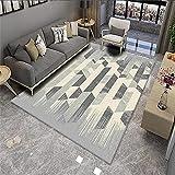 Alfombra Antideslizante ba?era Alfombra Azul Gris, sofá cálida mofa a Prueba de Humedad alfombras Grandes alfombras 7-Azul Gris_200x300cm