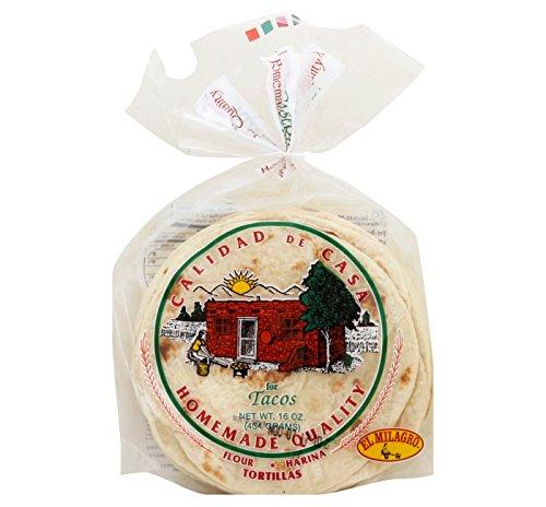 El Milagro Homemade Quality Flour Tortillas 16oz, pack of 1
